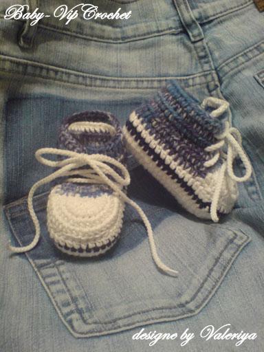 пинетки кросовки спицами схема. пинетки на спицах со схемой зайчики.